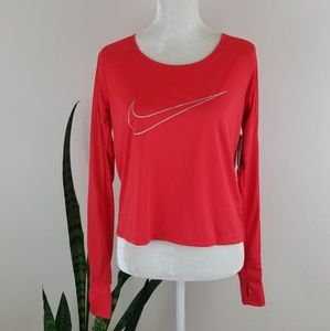 Nike Dri-fit Cropped Running Top